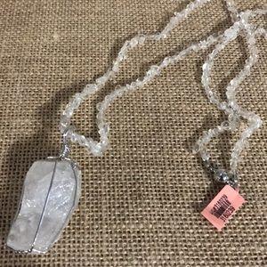 White Crystal Quartz Necklace 216 cts